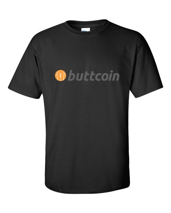 mockup 2228c204 600x750 - Buttcoin T Shirt (with Text)