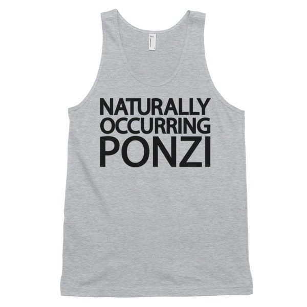 "mockup 241db214 600x600 - ""Naturally Occurring Ponzi"" Tank Top ( Black Text )"
