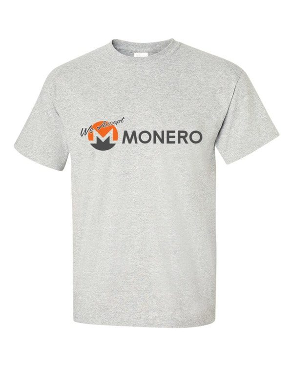 "mockup 299565f6 600x750 - ""We Accept Monero"" T Shirt"