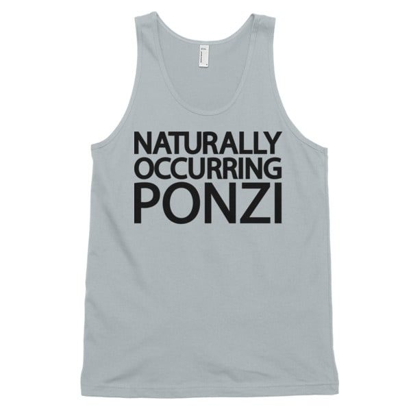 "mockup 39494913 600x600 - ""Naturally Occurring Ponzi"" Tank Top ( Black Text )"