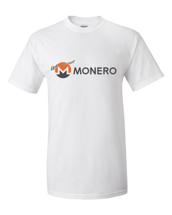 "mockup 74094435 600x750 - ""We Accept Monero"" T Shirt"