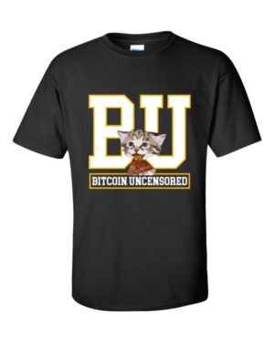 mockup 7eb84878 300x375 - Bitcoin Uncensored T Shirt ( White Text )
