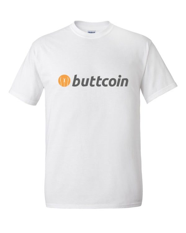 mockup e485eccb 600x750 - Buttcoin T Shirt (with Text)