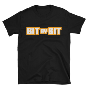 Bit by Bit T Shirt Monero Apparel