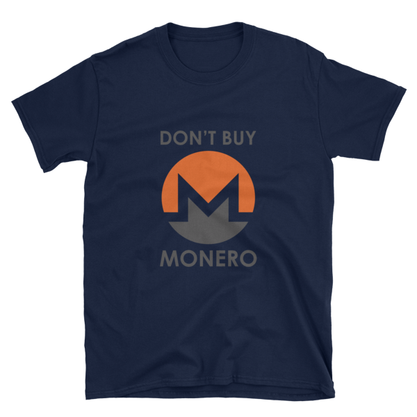 "mockup 2d4b5f8d 600x600 - ""Don't Buy Monero"" T Shirt"