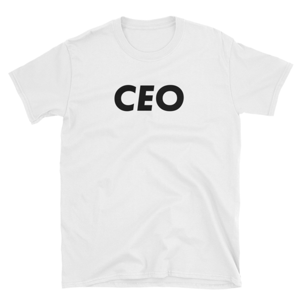 mockup 1a75cb2b 600x600 - CEO T-Shirt (Black Text)