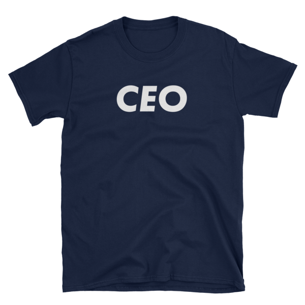 mockup b10e14b9 600x600 - CEO T-Shirt (White Text)