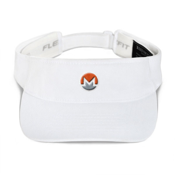 mockup 061aba0d 600x600 - Monero Poker Visor (Logo on White)