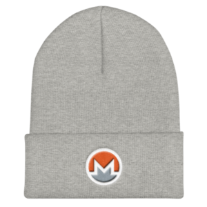 mockup 0ce87d04 300x300 - OG Monero Beanie (Logo on White)