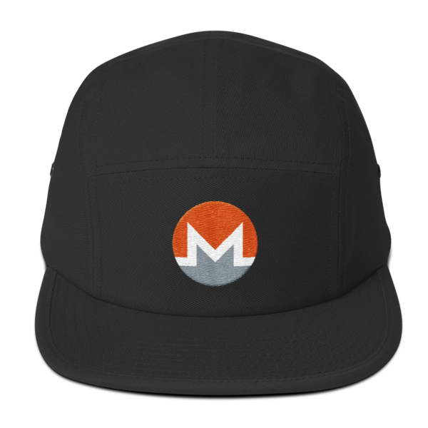 mockup 150271e0 600x600 - Five Panel Monero Cap (White M)
