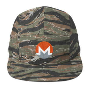 mockup 16ea1d84 300x300 - Five Panel Monero Cap (White M)