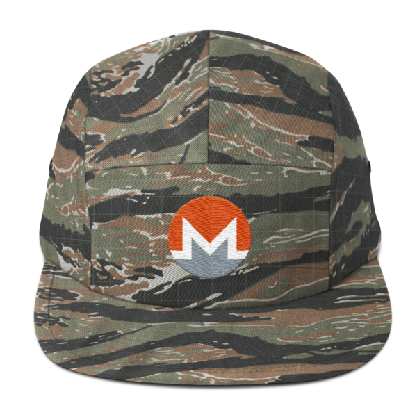 mockup 16ea1d84 600x600 - Five Panel Monero Cap (White M)