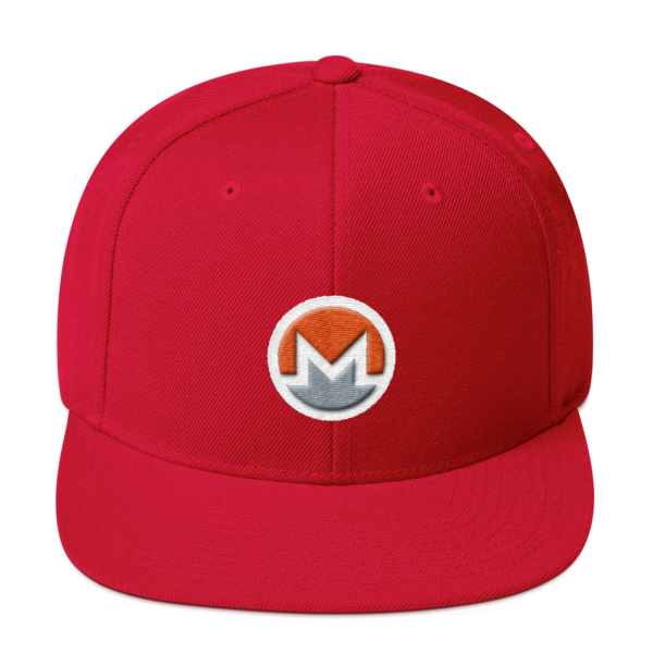 mockup 1b3dc5f5 600x600 - Snapback Monero Hat (Logo on White)