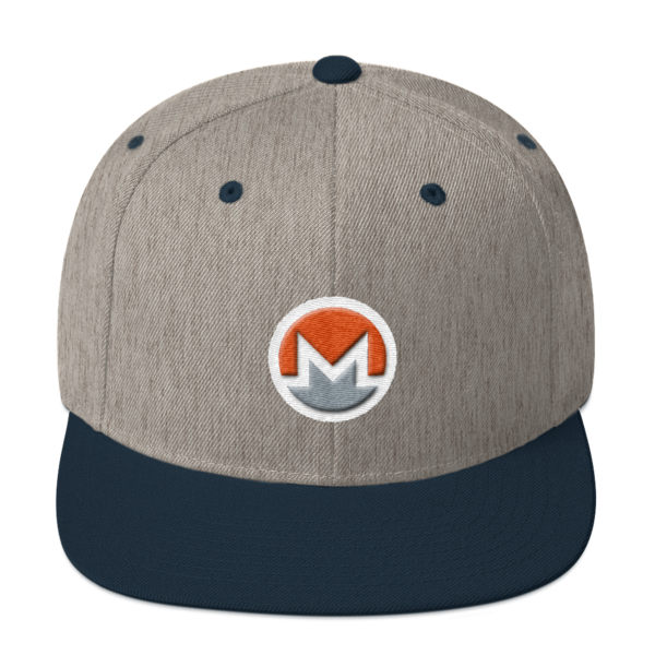 mockup 1e7e4e81 600x600 - Snapback Monero Hat (Logo on White)
