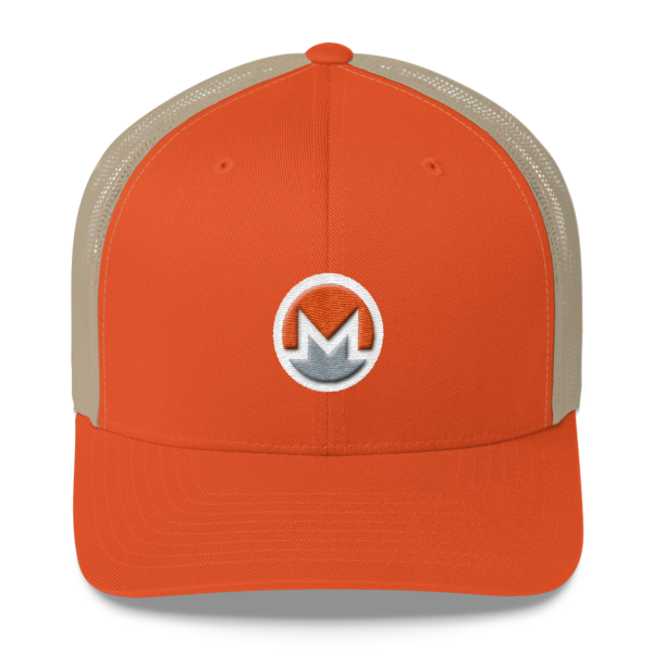 mockup 212e0ca3 600x600 - Monero Trucker Cap (Logo on White)