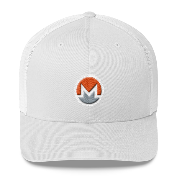 mockup 24dd285b 600x600 - Monero Trucker Cap (Logo on White)