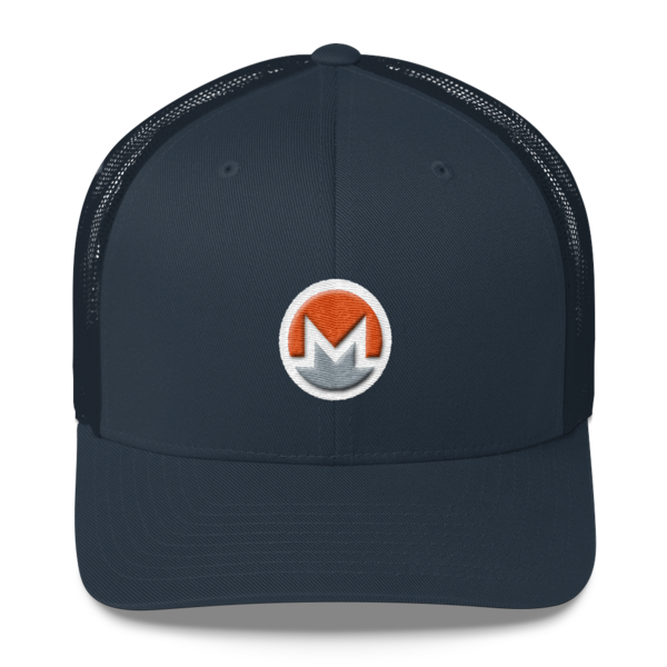 mockup 2b2011b0 600x600 - Monero Trucker Cap (Logo on White)