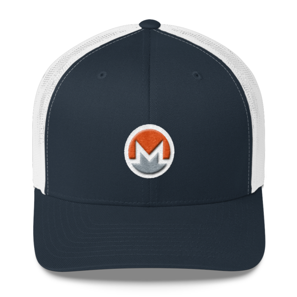 mockup 3c7627e5 600x600 - Monero Trucker Cap (Logo on White)