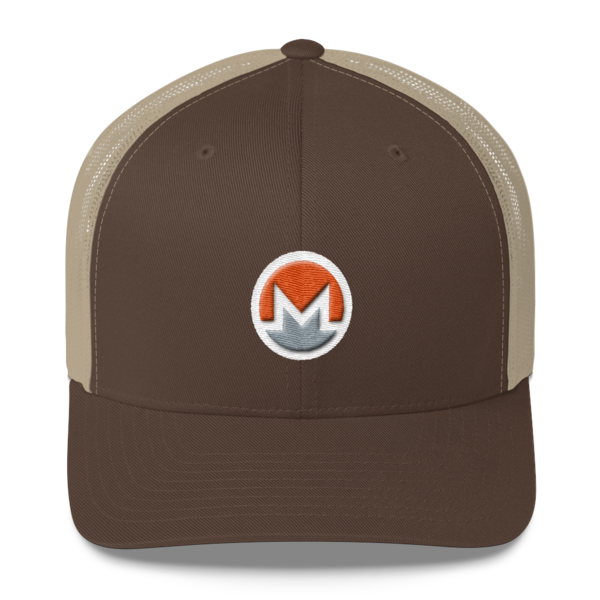 mockup 3ea2d108 600x600 - Monero Trucker Cap (Logo on White)