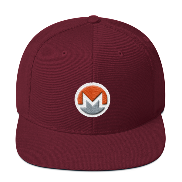 mockup 40bb4df2 600x600 - Snapback Monero Hat (Logo on White)