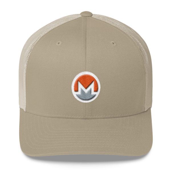 mockup 612d4ae0 600x600 - Monero Trucker Cap (Logo on White)