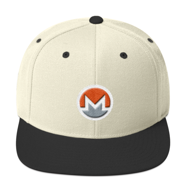 mockup 707f5a19 600x600 - Snapback Monero Hat (Logo on White)