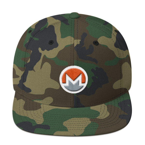 mockup 7a51f5a8 600x600 - Snapback Monero Hat (Logo on White)