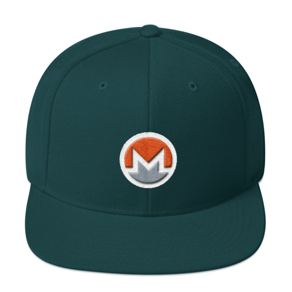 mockup 7e8da17e 600x600 - Snapback Monero Hat (Logo on White)