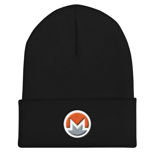 mockup 80087de2 600x600 - OG Monero Beanie (Logo on White)