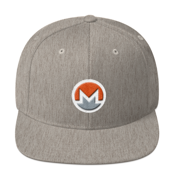 mockup 8297c858 600x600 - Snapback Monero Hat (Logo on White)
