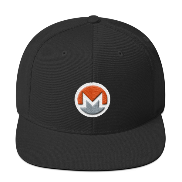 mockup 88d43d36 600x600 - Snapback Monero Hat (Logo on White)