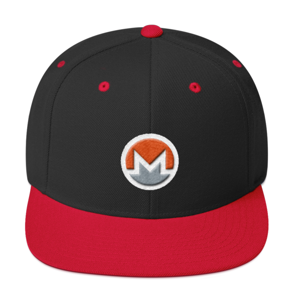 mockup 8a0896d5 600x600 - Snapback Monero Hat (Logo on White)
