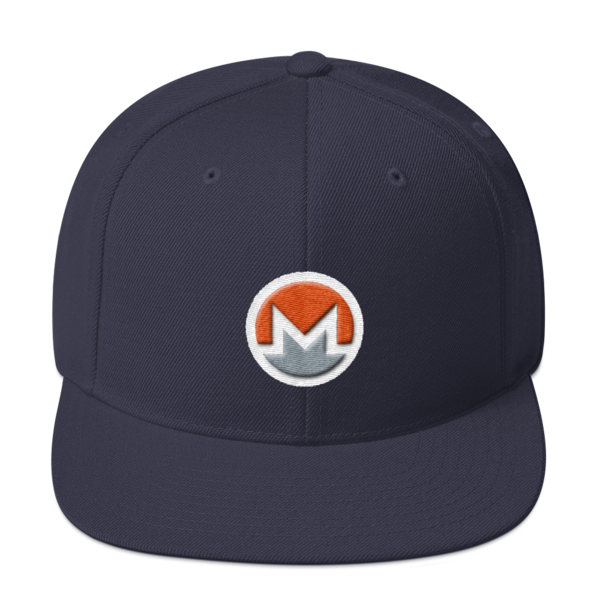 mockup 8b5bf020 600x600 - Snapback Monero Hat (Logo on White)