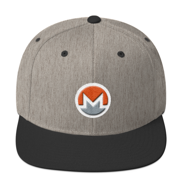 mockup 93323afe 600x600 - Snapback Monero Hat (Logo on White)