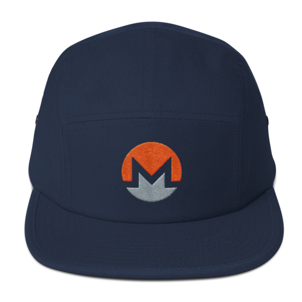 mockup 974264e2 600x600 - Five Panel Monero Cap