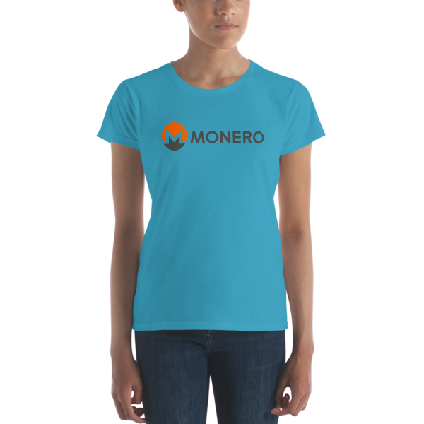 mockup 9985e795 600x600 - Ladies' Monero T-Shirt (With Text)