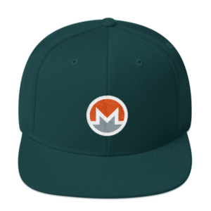 mockup 9b5c88ea 300x300 - Wool Snapback Monero Hat (Logo on White)