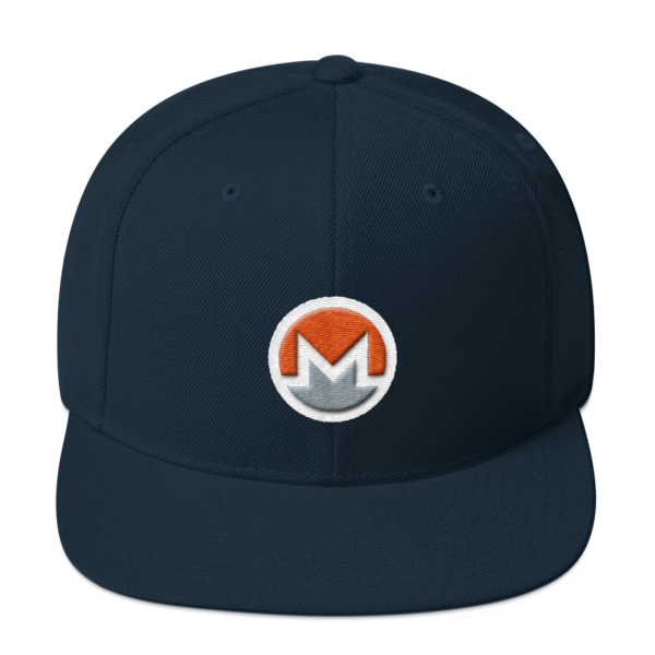 mockup 9d7aa891 600x600 - Snapback Monero Hat (Logo on White)