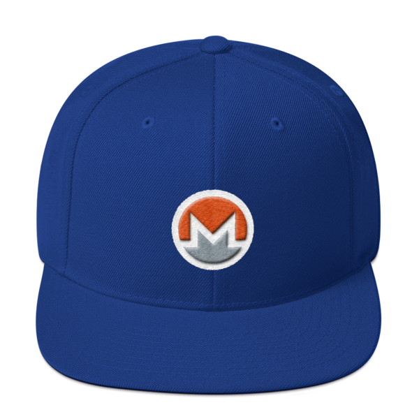mockup b3e108a4 600x600 - Snapback Monero Hat (Logo on White)