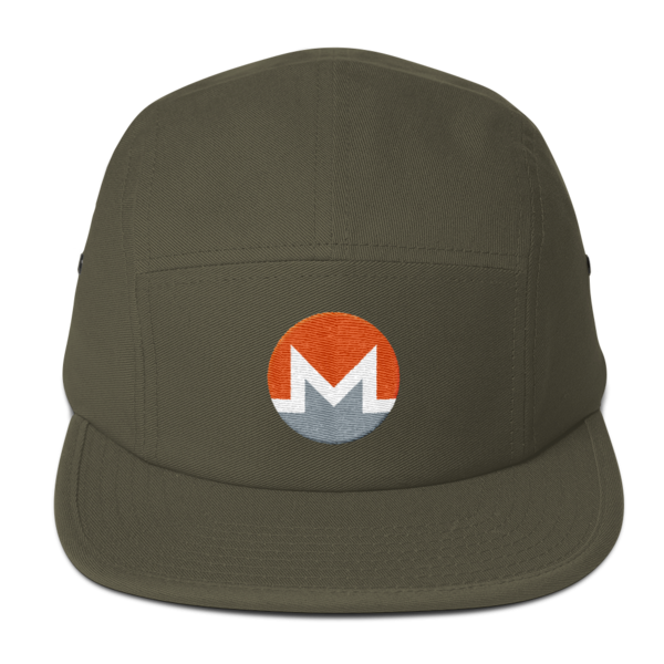 mockup b95d9893 600x600 - Five Panel Monero Cap (White M)