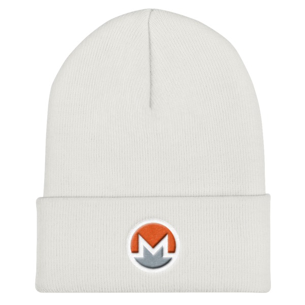mockup bf409427 600x600 - OG Monero Beanie (Logo on White)