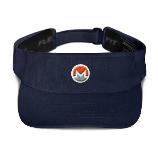 mockup bfc3f029 600x600 - Monero Poker Visor (Logo on White)