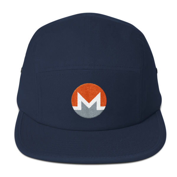 mockup bfea0291 600x600 - Five Panel Monero Cap (White M)