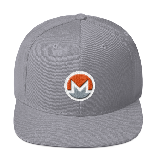 mockup d59b9cd2 600x600 - Snapback Monero Hat (Logo on White)