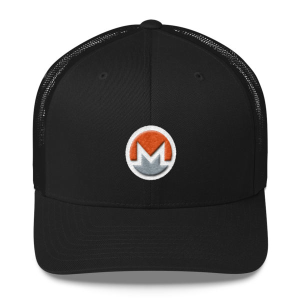 mockup d5dce81a 600x600 - Monero Trucker Cap (Logo on White)