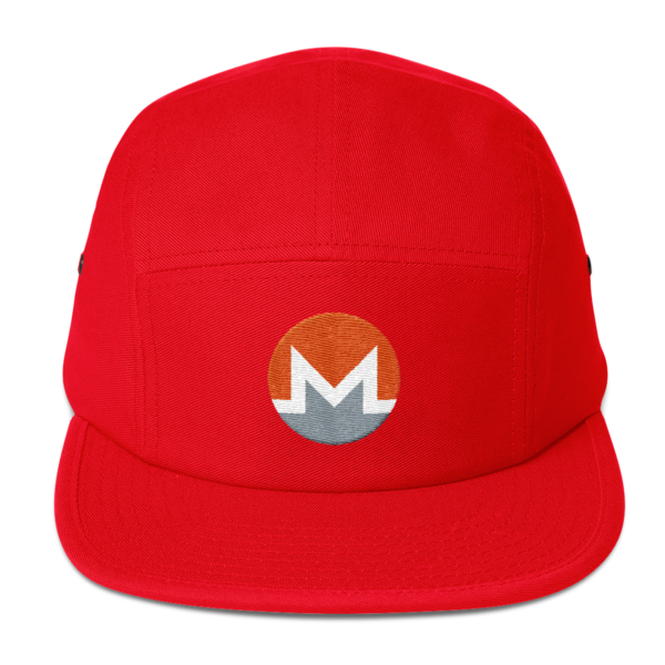 mockup d7a9873b 600x600 - Five Panel Monero Cap (White M)
