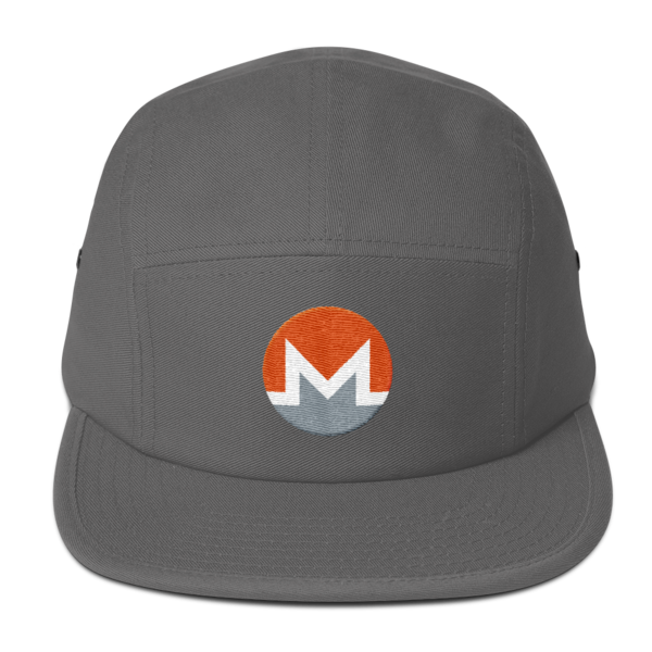 mockup de96ab47 600x600 - Five Panel Monero Cap (White M)