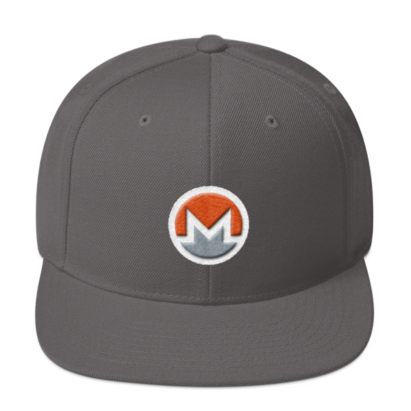 mockup e7fe2bf0 600x600 - Snapback Monero Hat (Logo on White)