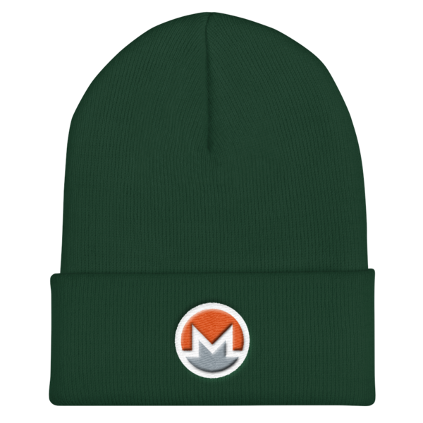mockup f8a05bdc 600x600 - OG Monero Beanie (Logo on White)