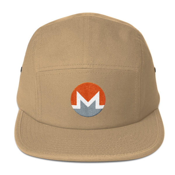 mockup fddf0196 600x600 - Five Panel Monero Cap (White M)